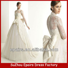 C01 2013 New Design Long Sleeve High Neck Lace Ball Gown Bridal Wedding Dress