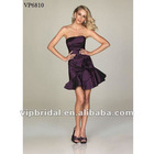 Glamorous taffeta Short/Mini skirt with a 3D flower party dress