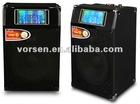 "active speaker 8"" wooden 2.0 professional active speaker inside with lighting"