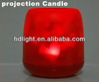 LED electronic flameless light Heart projection Candle Red