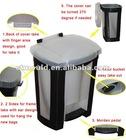 Plastic 16L foot pedal dustbin