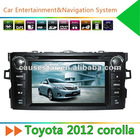 2 Din 7'' Toyota Corolla 2012 Car DVD Player with GPS Navigation
