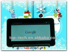 "7"" tablet pc Boxchip A13 cortex A8 1.2GHz 8G Nand Flash Android 4.0 Wifi dual camera"