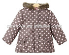 Print pattern for kids girl jacket winter in cut design