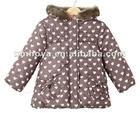 Print pattern for kids girl jacket winter in cut design