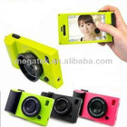 plastic 2 in 1 camera stand case for iphone 5