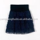 lady's polka dot chiffon skirt