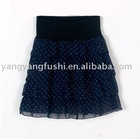 lady's polka dot chiffon skirt