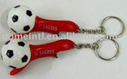 Bottle opener keychain,Football keychain,Plastic keyring,Keyring with bottle opener