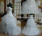 Strapless Sweetheart Sequin Beaded Bodice Pick-up Tulle Skirt Mermaid Shape Real Picture Wedding Dress 2013