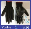 yiwu fatcory supply nylon Nitrile gloves