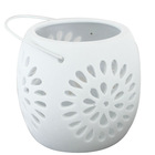 New design White color Hollow out candle Holder CH004