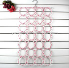 Metal scarf hanger with 28 holes