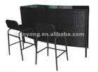 rattan furniture--1set= 1 bar counter + 2 barstools