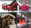 christmas yard decoration inflatable celebration lighted log cabin