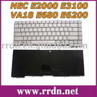 For E2000 E3100 White US Laptop Keyboard