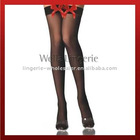 Sheer Thigh High Stockings with Satin Bow