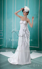 2012 holiday sale satin sweetheart empire maternity wear wedding dress F-065
