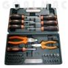 42pcs screwdriver, pliers, bits and sockets set