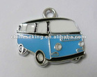 fashion enamel bus charms, enamel cartoon charms for kids, costume accessories jewelry charms