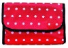 (XHF-COSMETIC-011) snap closure cosmetic pouch
