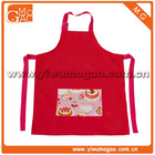 Girls red tea party small cute cotton kids cooking apron