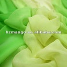 hi twist crepe,lime green graduated silk fabrics