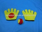 Throw & Catch Gloves w/6.5cm 2.5'' Soft Ball Sport Game