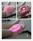 New coming baby sandals/petals sandals.toe blooms.toddler flower shoes