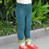 sequin ruffle leggings pants/sequin legging/lace leggings/girls leggings/baby tights