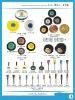 wholesale OEM 1C-8Cwood plastic hub jewelry polishing bristle brush