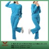 100%Polyester blue women sport suit