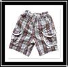 2012 Hotsale 100% Cotton Children's Plaid Shorts