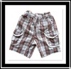 2012 Hotsale 100% Cotton Children's Plaid Shorts