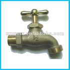 Heavy brass bibcock for hose 1/2""