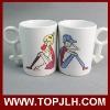 Ceramic DIY sublimation lover mugs with coating