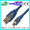 Transparent blue mini5p data 2.0 cable