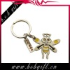 zinc alloy customer blank promotional metal keyring-bee shaped
