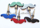 2013 novelty design mustache wine bottle stopper