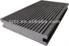 140x30mm Dark gray Solid grooves WPC decking