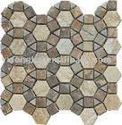 split face stone mosaic