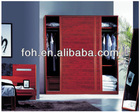 wood armoire wardrobe, wood clothes closet,bedroom furniture(FOH-XD17)