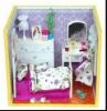 diy miniature dollhouse handmade 4D wooden doll house