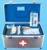 2012 new design aluminum first-aid kit ,medical case with handle and locks size 260*170*170MM