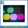 silicon new ice mould FDAcustom 10 pcs pineapple fruit silicone ice cube tray