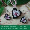 Fashion flower pendant in murano glass jewelry set