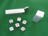 mini aluminum dice set with dots in size1.6*1.6*1.6cm