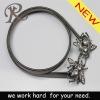 2012 fashion black color animal buckle chain belt