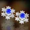 2012 NEW brand brass or sterling silver stud earring, paypal on line