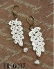 2012 leaves style lace earrings for lady